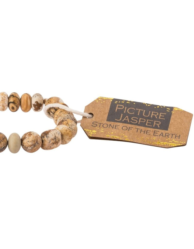 Scout Picture Jasper Stone Bracelet