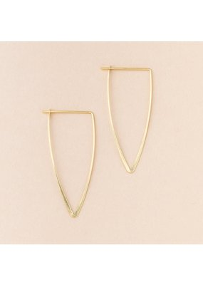 Scout Gold Galaxy Triangle Earrings