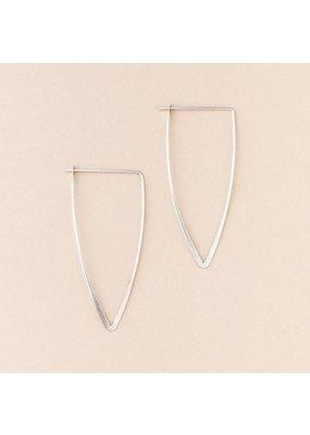 Scout Silver Galaxy Triangle Earrings