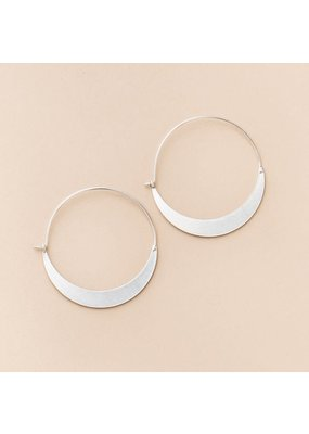 Scout Silver Crescent Hoop Earrings