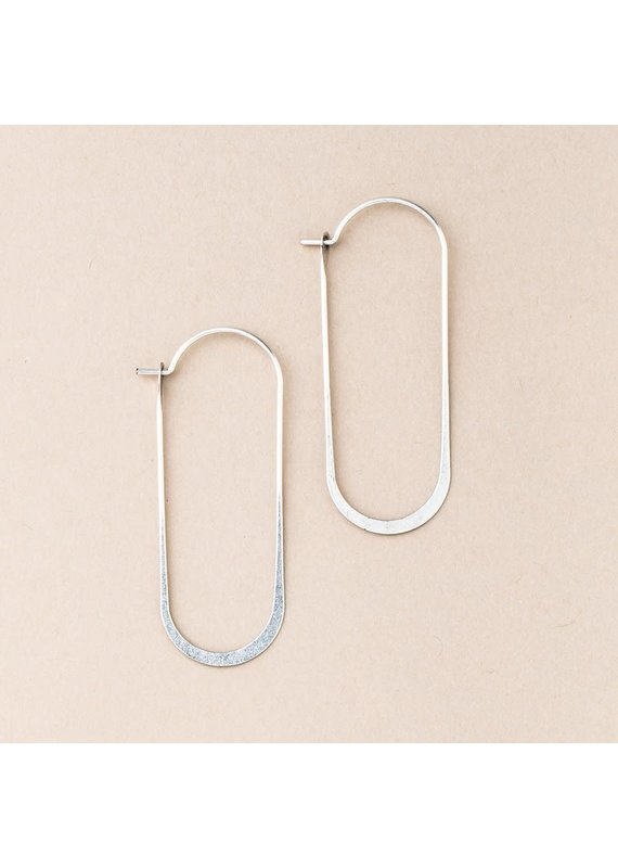 Scout Silver Cosmic Oval Earrings