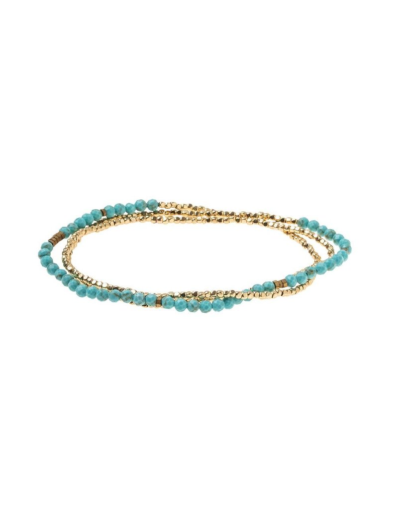 Scout Turquoise Gold Delicate Stone Wrap