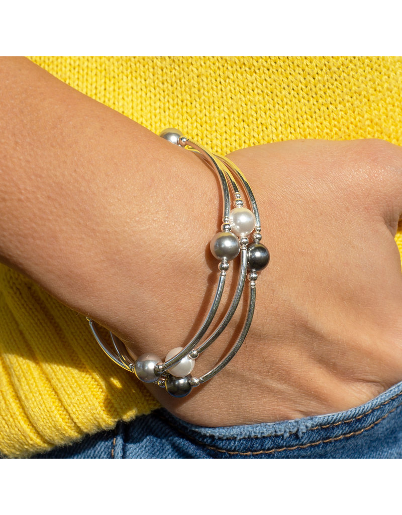Made as Intended Graphite Pearl Small Blessing Bracelet