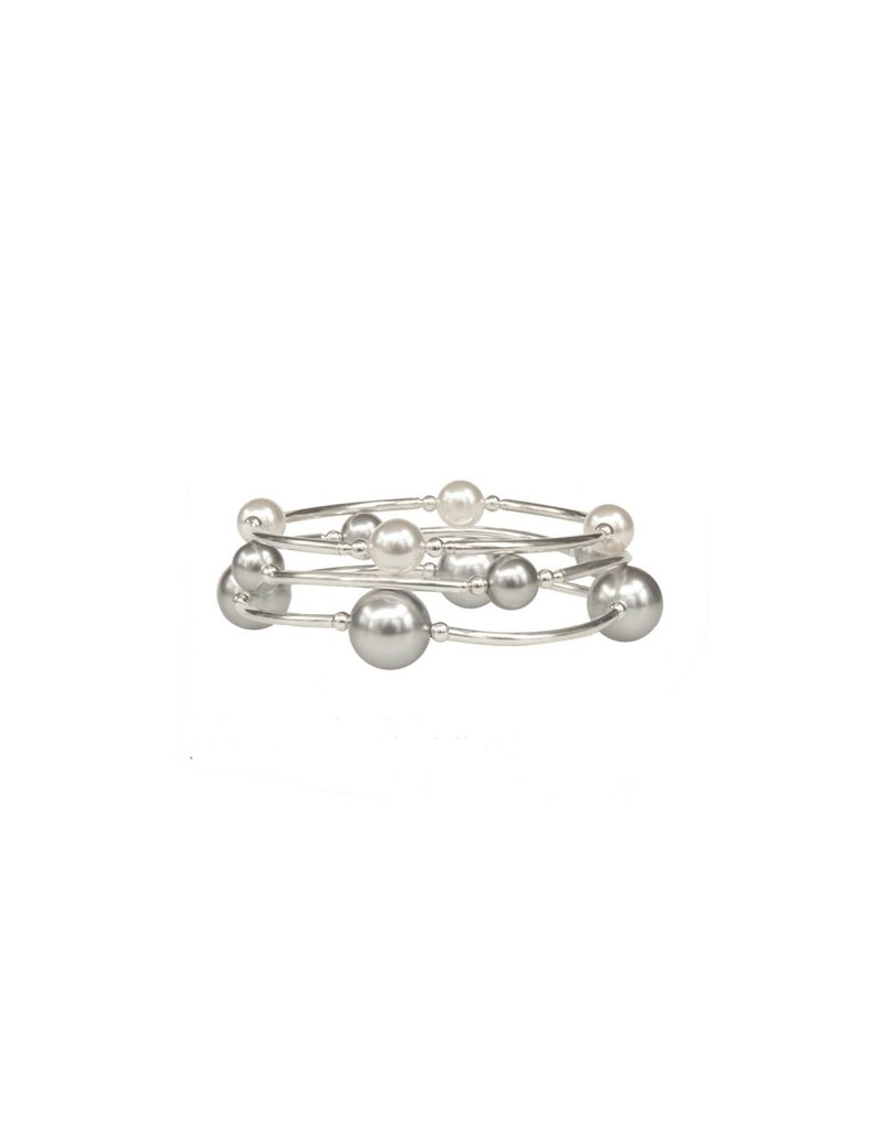 Made as Intended Silver Pearl Small Blessing Bracelet