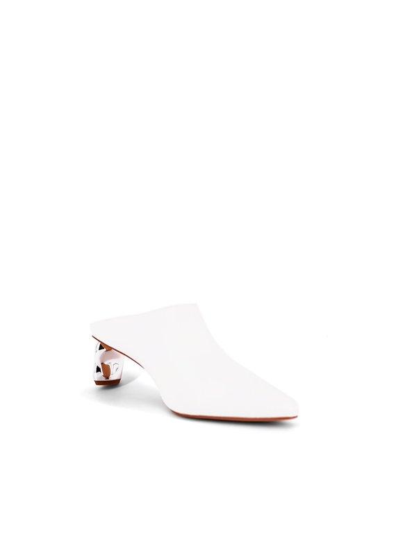 Shu Shop Oona White Slip On Heel