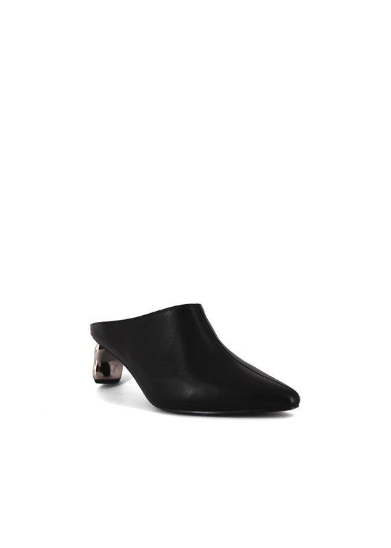 Shu Shop Oona Black Slip On Heel
