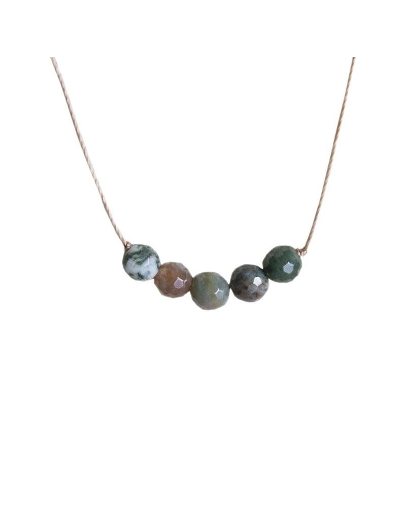 SoulKu Fancy Jasper Intention Peace Necklace