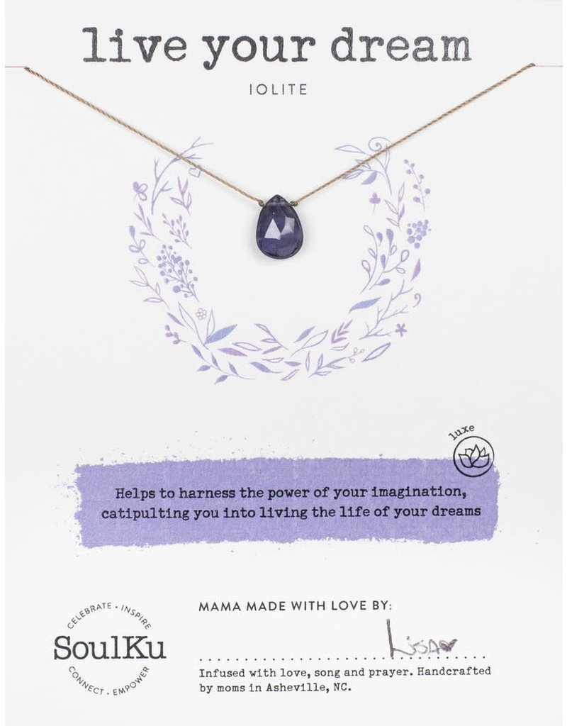 SoulKu Iolite Live Your Dream Necklace
