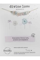 SoulKu Morganite Gemstone Seed Divine Love Necklace