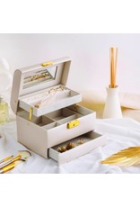Perri Bleu Gwyneth Tiered Case Jewelry Box Ivory