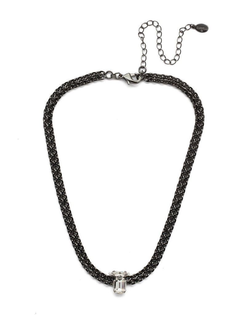 Sorrelli Giselle Tennis Necklace Midnight Moon