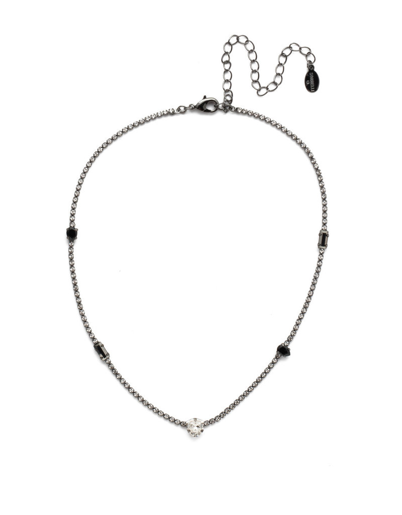 Sorrelli Ophelia Tennis Necklace Midnight Moon