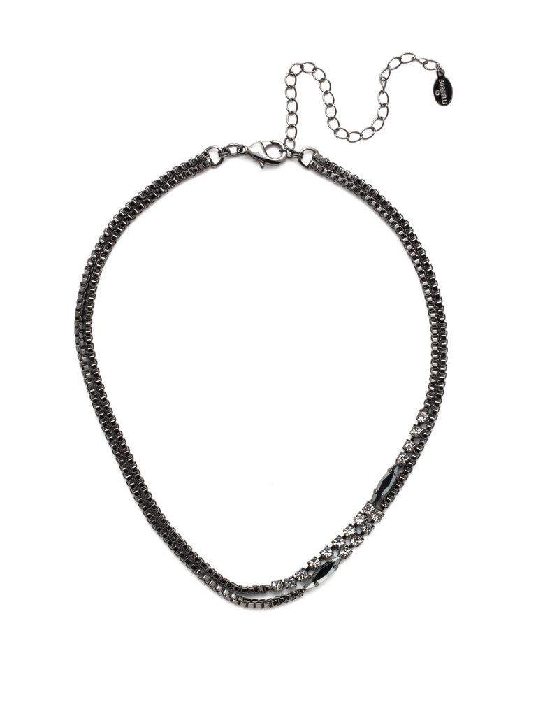 Sorrelli Banks Tennis Necklace Midnight Moon