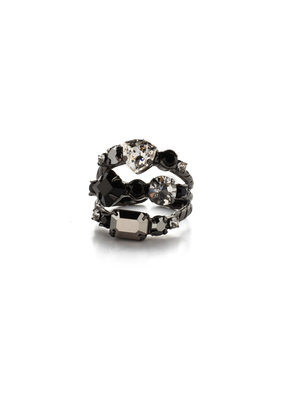 Sorrelli Sedged Stacked Ring Midnight Moon