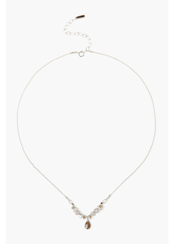 CHAN LUU Sterling Light Grey Dancing Pearl Necklace