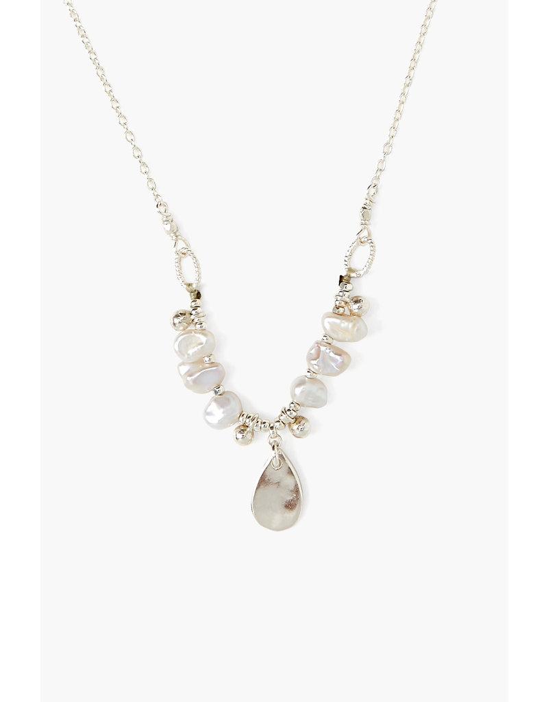 CHAN LUU Sterling Light Grey Dancing Pearl Necklace