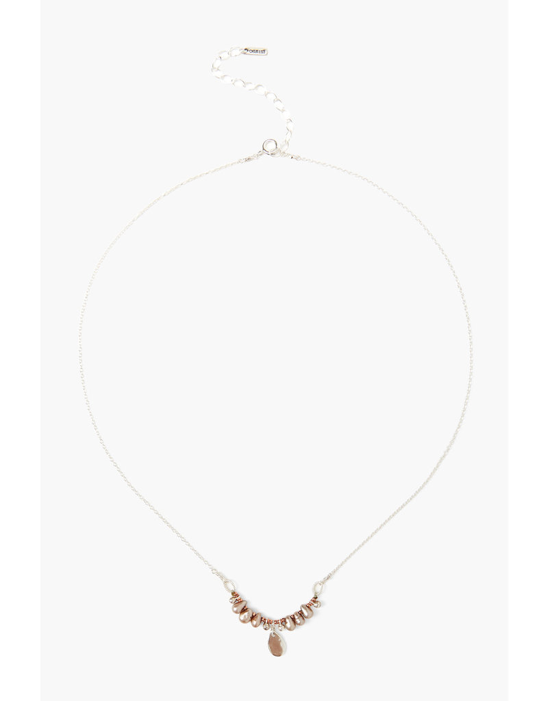 CHAN LUU Sterling Taupe Dancing Pearl Necklace