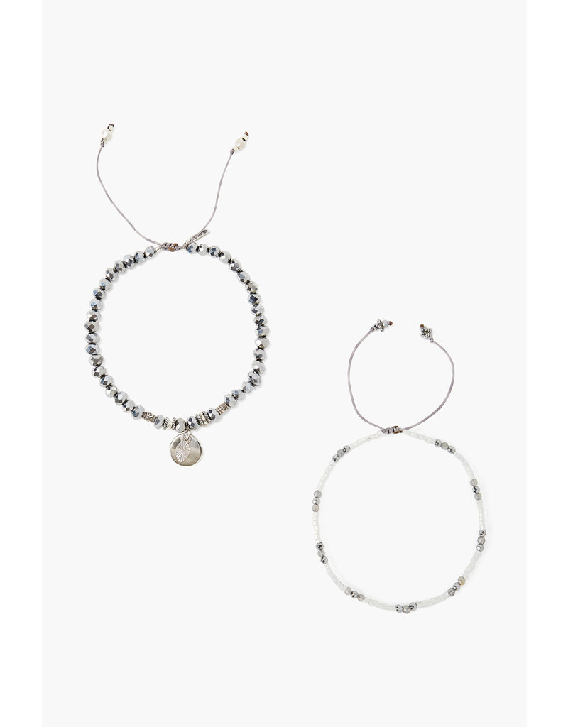 CHAN LUU Sterling Coated Silver Set Adjustable Bracelets