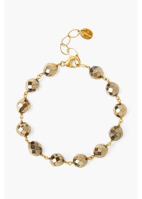 CHAN LUU Gold Pyrite Bead Bracelet