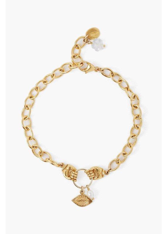 CHAN LUU Gold Mano Chain Bracelet