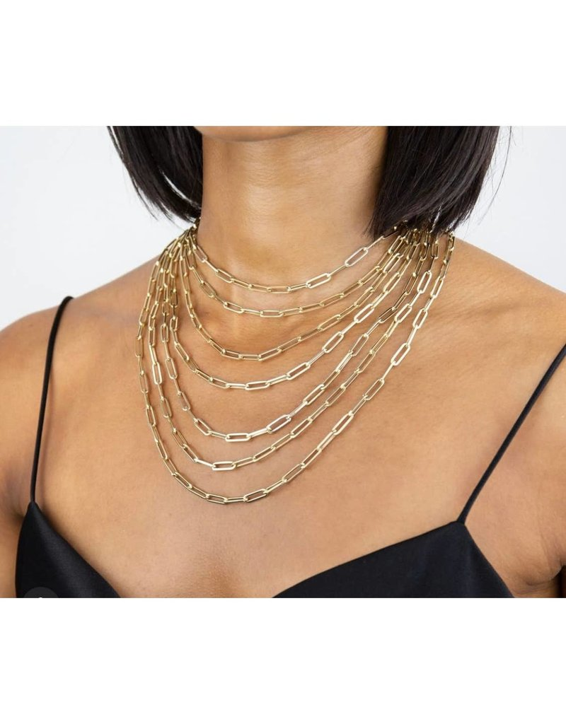 """Modern Opus Goldfilled Large Clip 16"""" Chain Necklace"""