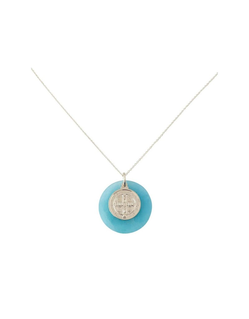 Modern Opus Sterling Gold Plate O Amaz + Coin Necklace