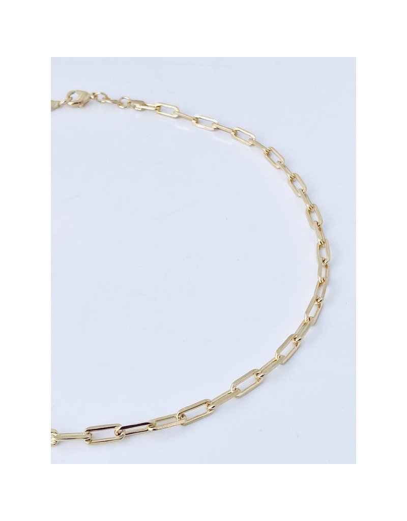 "Modern Opus 18k Gold-Filled 18"" Medium Clip Chain"