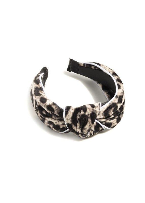 Shiraleah Ivory Leopard Headband