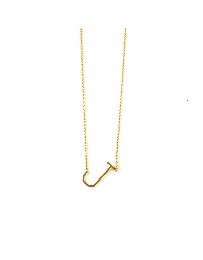 14K Gold Plated Initial Necklace