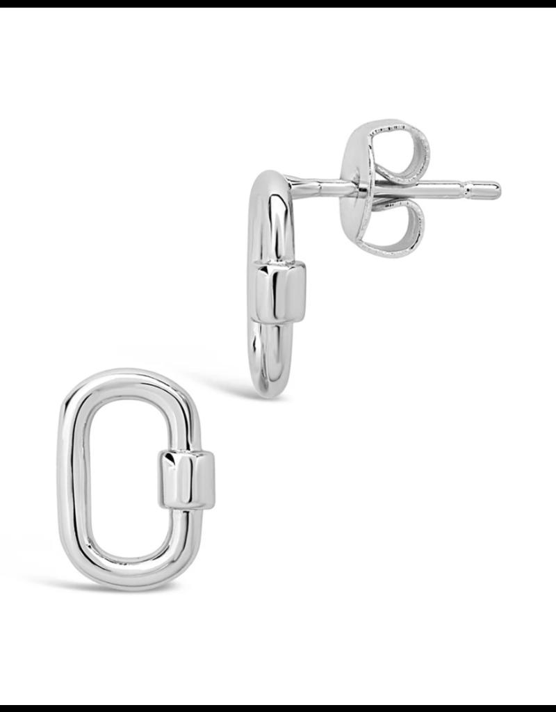 Sterling Forever Silver Carabiner Lock Studs