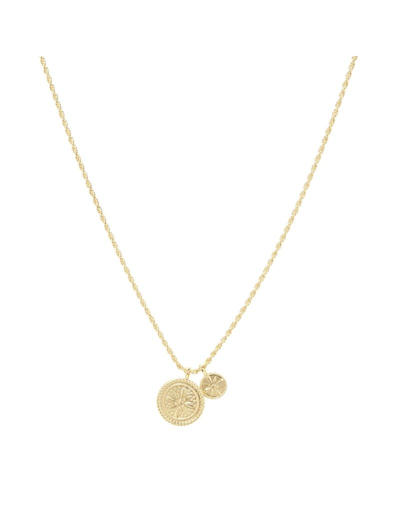 gorjana Fiore Coin Necklace