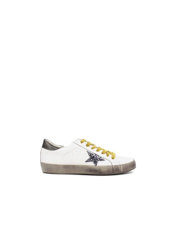 Shu Shop Paula White & Silver Sneakers