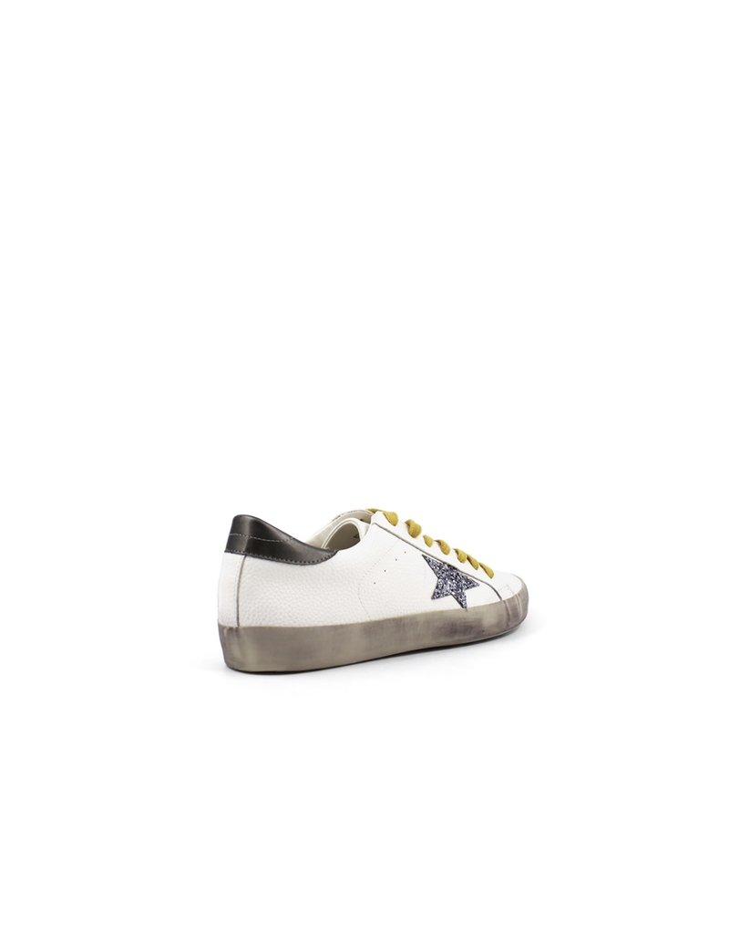 Shu Shop Paula White & Silver Sneakers