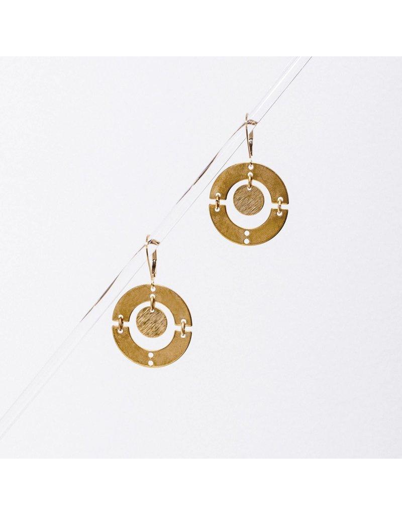 Larissa Loden Puer Brass Earrings