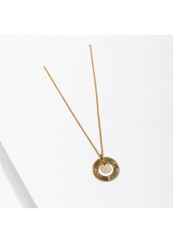 Larissa Loden Puer Brass Necklace