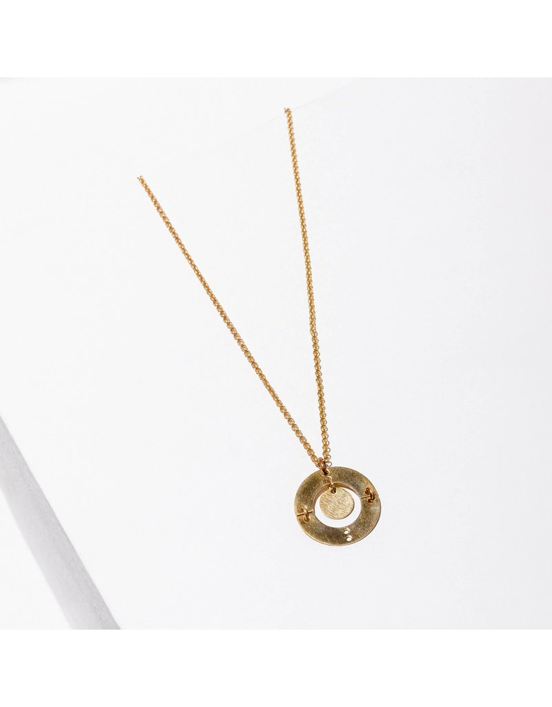 Larissa Loden Puer Brass Necklace