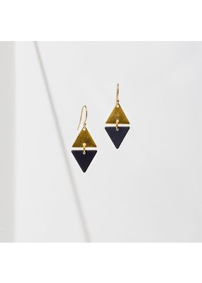 Larissa Loden Alta Black Earrings