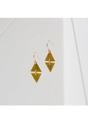 Larissa Loden Alta Brass Earrings