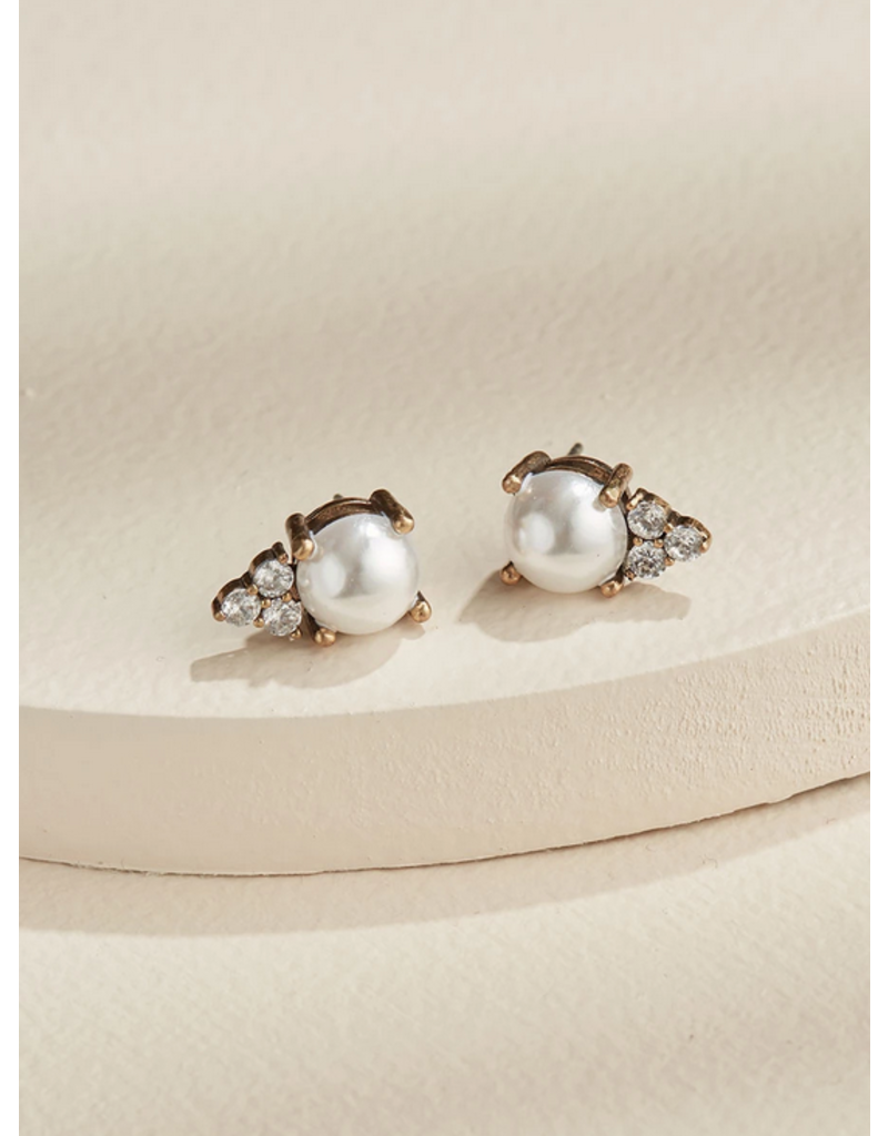 Olive + Piper Pearl Chloe Studs 14k Gold Plated