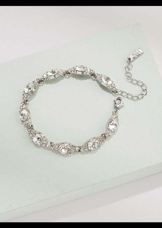 Olive + Piper Chole Bracelet Rhodium Plated