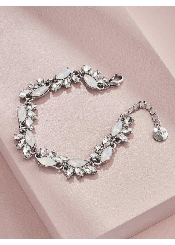 Olive + Piper Edna Crystal Bracelet in Silver