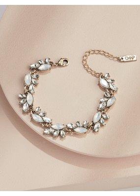 Olive + Piper Edna Crystal Bracelet in Gold