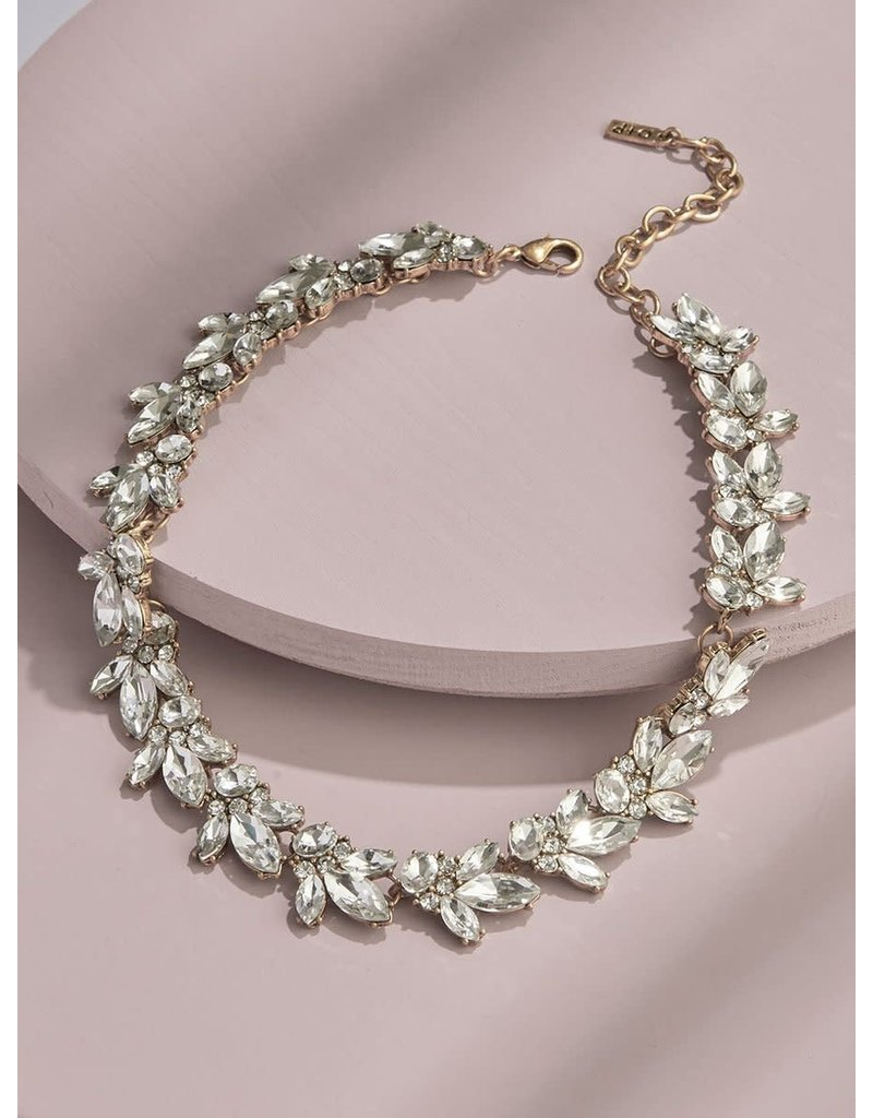 Olive + Piper Lucy Crystal Necklace in Gold