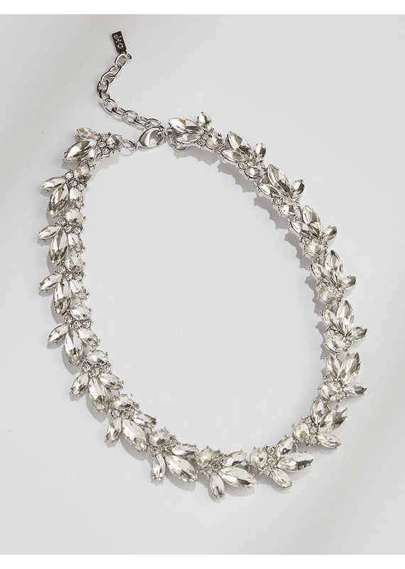 Olive + Piper Lucy Crystal Necklace in Silver