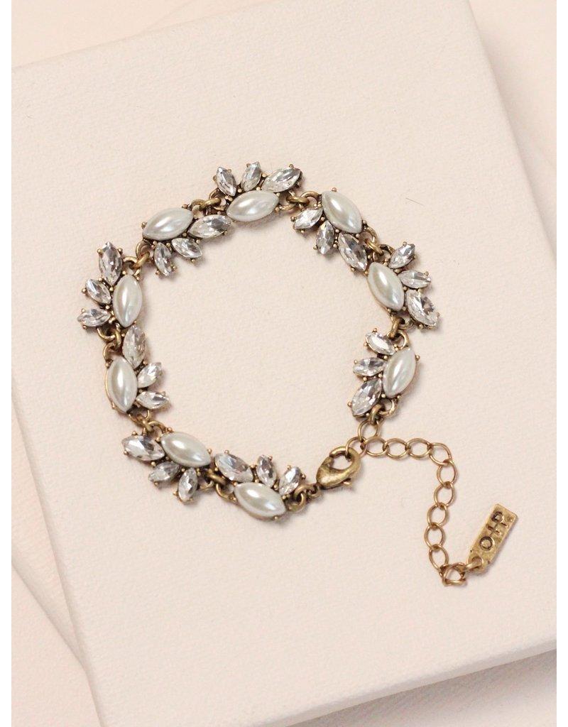 Olive + Piper Pearl Edna Bracelet in Gold