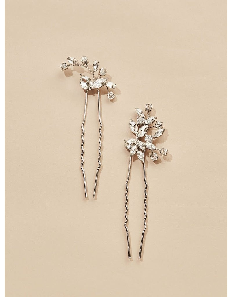 Olive + Piper Hudson Hair Pins (Set of 2) Silver