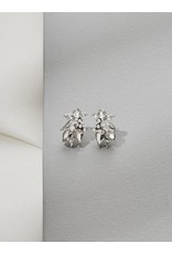 Olive + Piper Sienna Studs Rhodium Silver Plated