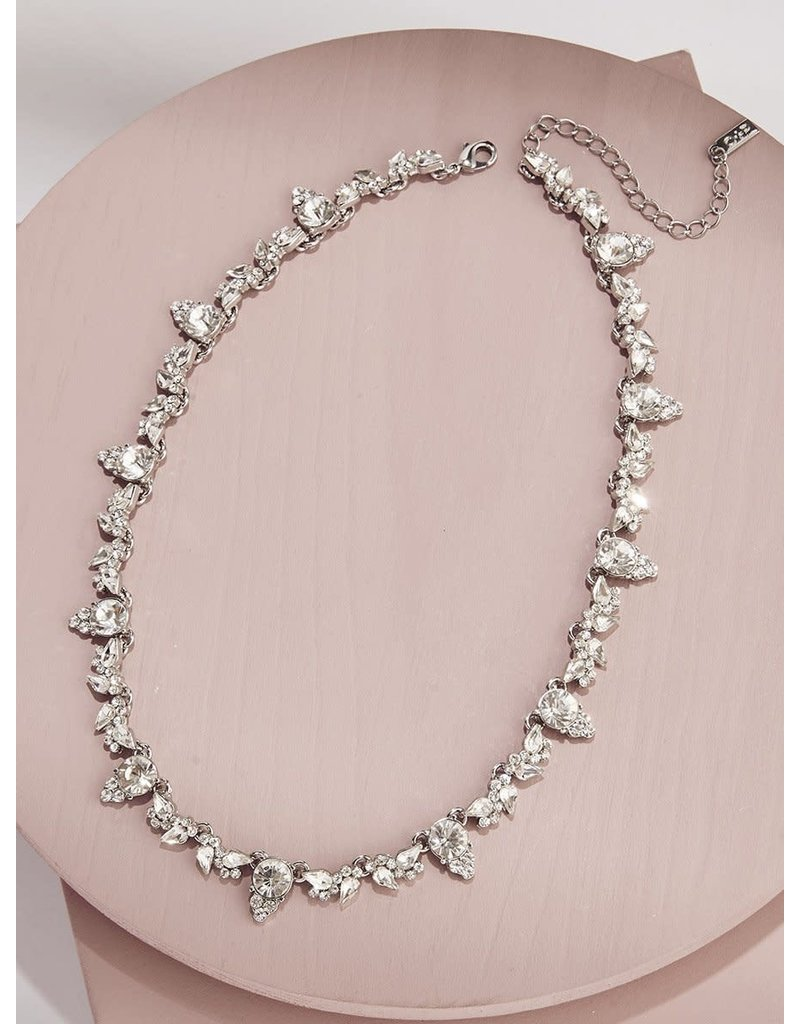 Olive + Piper Aurora Collar Rhodium Plated