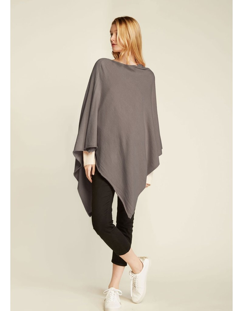 Look By M Basic Taupe Triangle Poncho