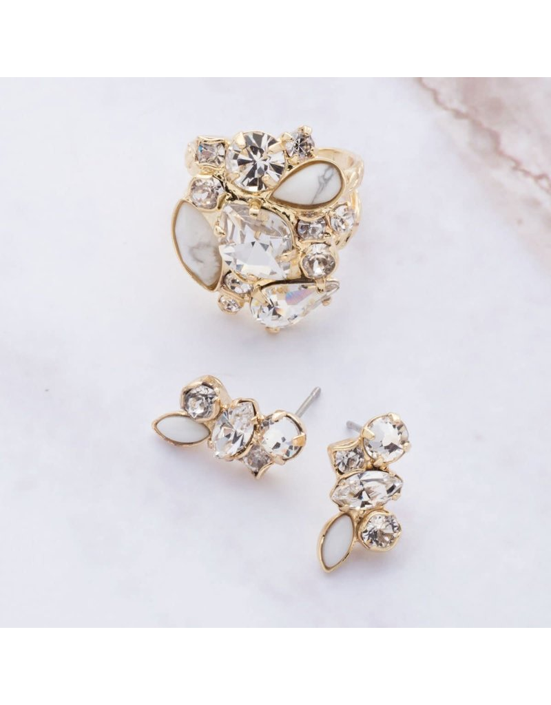 Sorrelli Petite Crystal Cluster Post Earrings Bright Gold